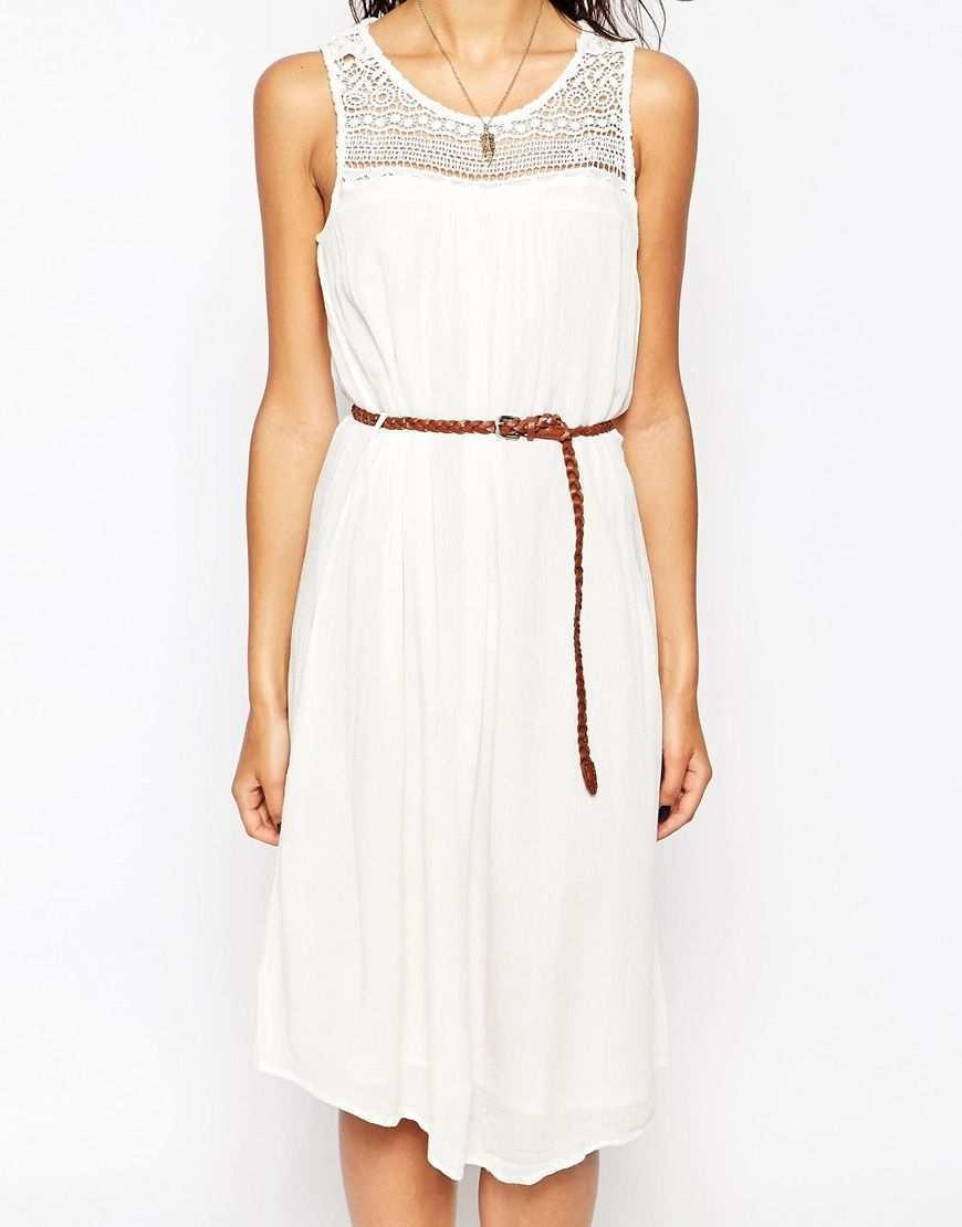Only Sleeveless Belted Summer Dress At Asos Com Sommerkleid Kleider Kleidchen