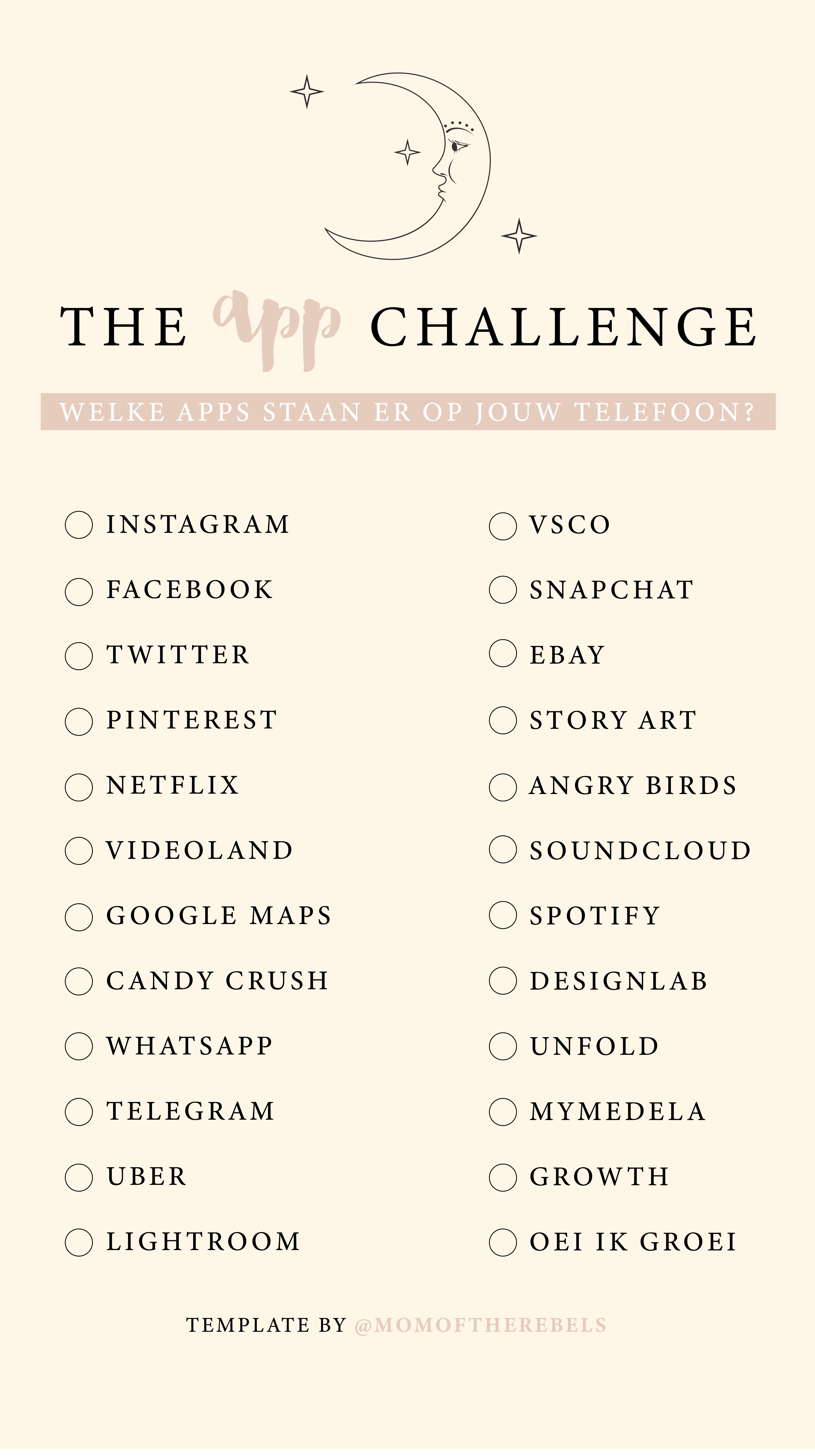 App Challenge Template Instagram Jenis Huruf Tulisan Teks Lucu Kata Kata Indah