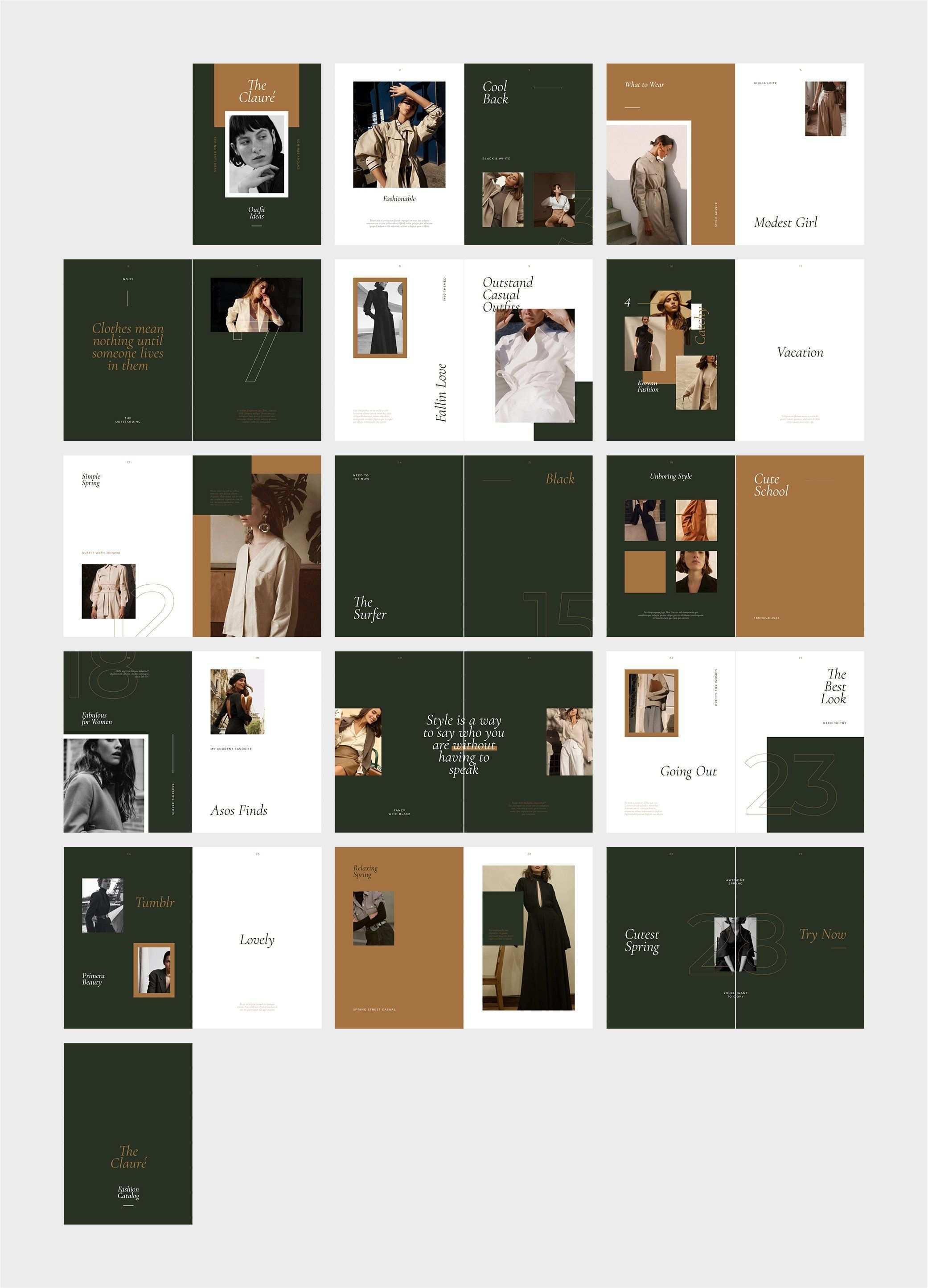 Claure Fashion Editorial Catalog Catalog Design Layout Fashion Editorial Layout Presentation Layout