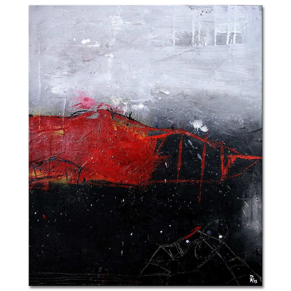 Acrylkunst Von Petra Klos Bridge Over Troubled Water Acrylmalerei Abstrakt Abstrakte Kunst Gemalde Abstrakte Malerei