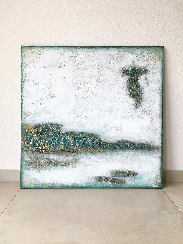 Victoria Acryl Gemalde Handgemalt Ice 80x80cm Etsy Acrylbilder Abstrakt Kunst Ideen Acrylmalerei Abstrakt