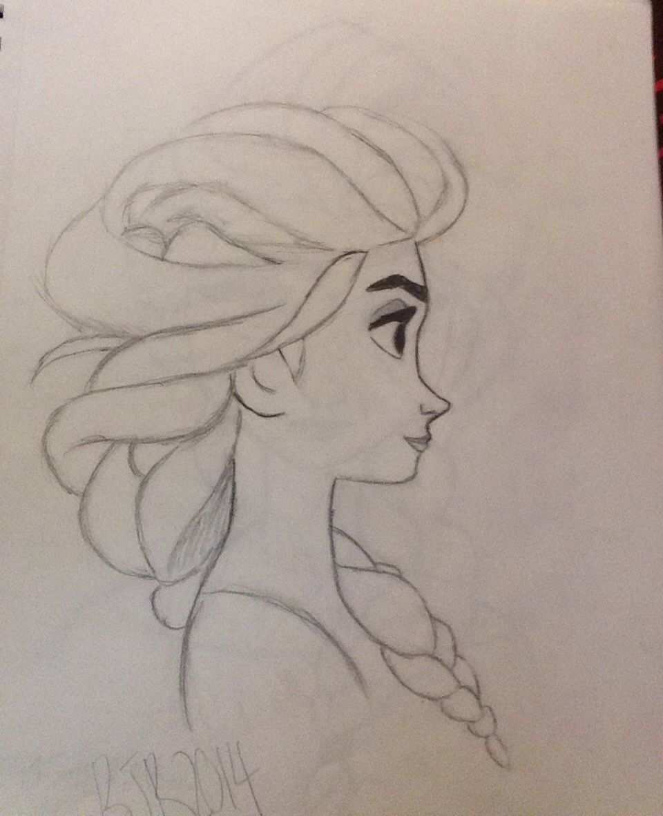 My First Drawing Of Elsa Ever By Briannah Ralls My Drawings Pinterest