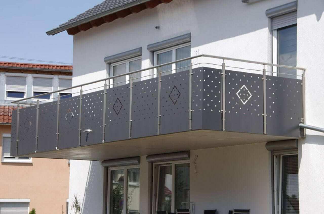 Lochblech Beispiel Lochblech Gelander Balkon Blech