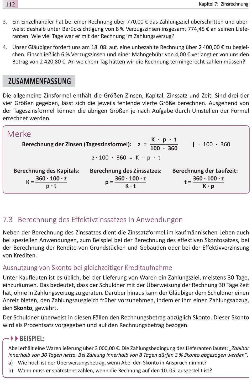 Merke Z K P I Von Der Jahreszinsformel Zur Tageszinsformel Losung Herleitung Der Jahreszinsformel Pdf Kostenfreier Download