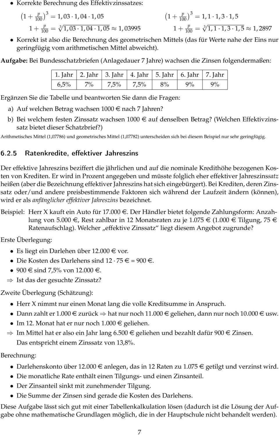 6 Anwendungen Im Mathematikunterricht Der Sekundarstufe I Prozent Und Zinsrechnung Pdf Free Download
