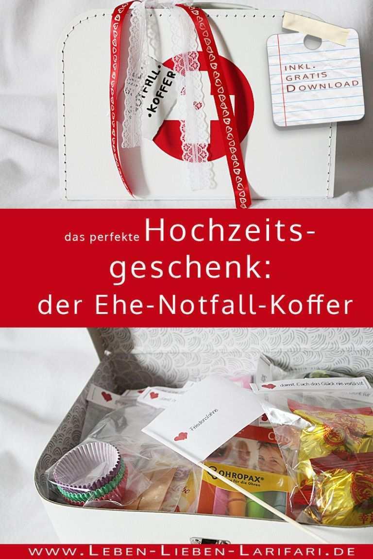 Ehe Notfall Koffer Diy Fur Ein Hochzeitsgeschenk Diy Geschenke Hochzeit Diy Hochzeitsgeschenk Geschenk Hochzeit