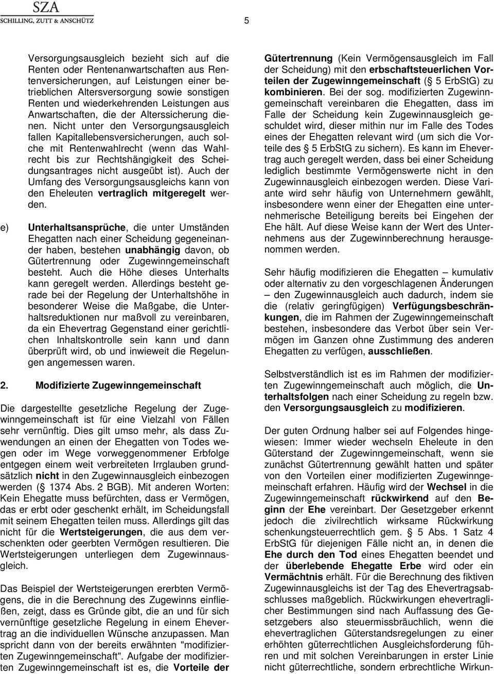 Ehevertrag Und Modifizierte Zugewinngemeinschaft Pdf Kostenfreier Download