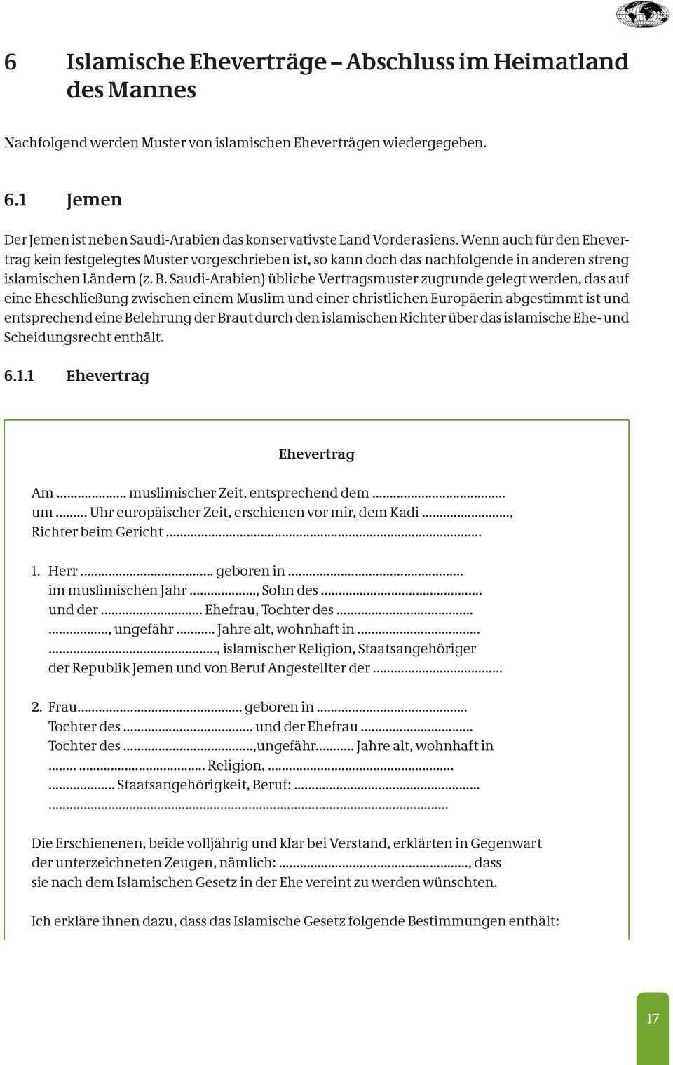 Islamische Ehevertrage Pdf Kostenfreier Download