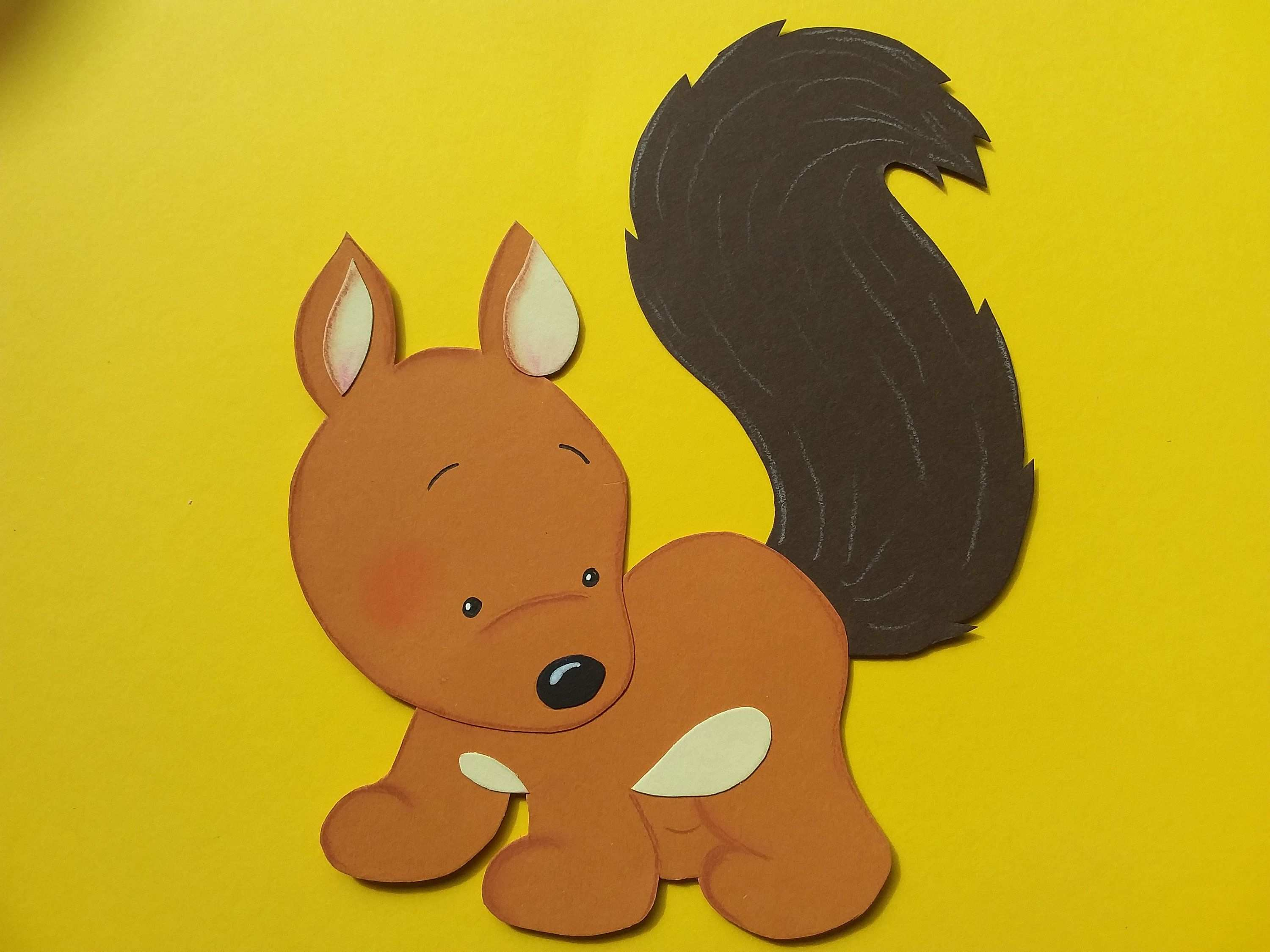 Window Image Cardstock Squirrel Large Squirrel Pikachu Card Stock