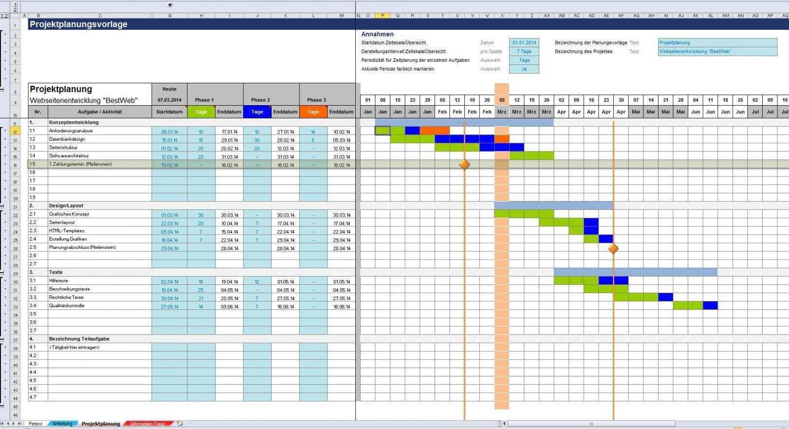 Excel Diagramm Vorlagen Kostenlos Vorlagen Projektplan Vorlage Excel Vorlage