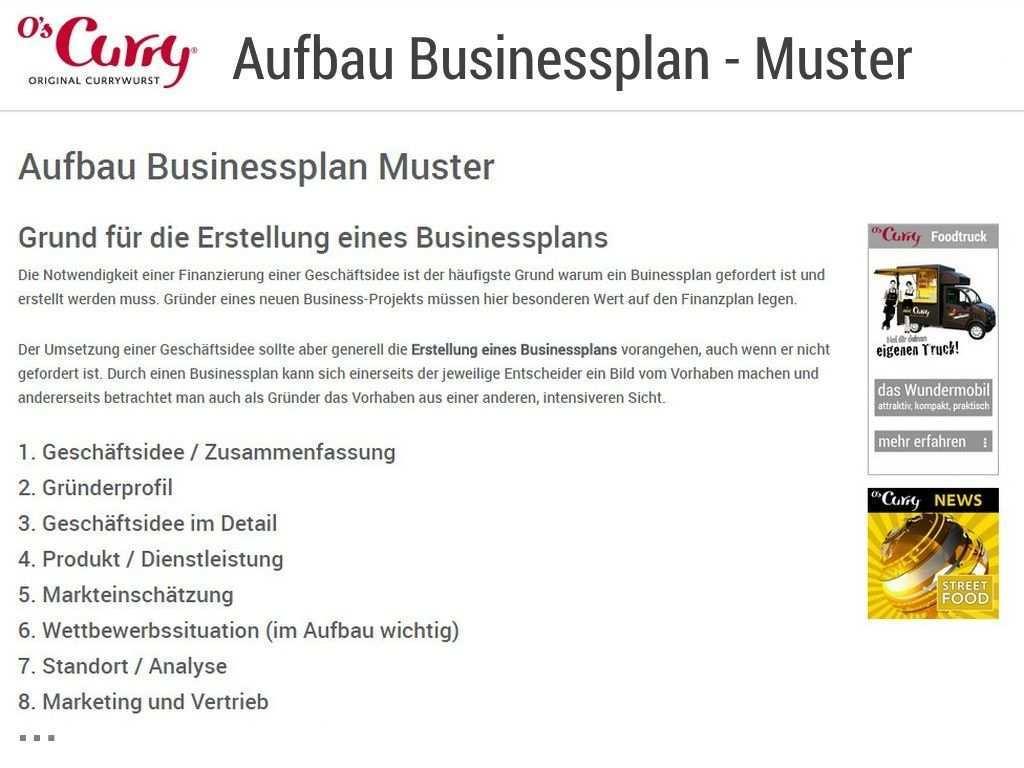 Aufbau Businessplan Muster Businessplan Aufbau Geschaftsideen