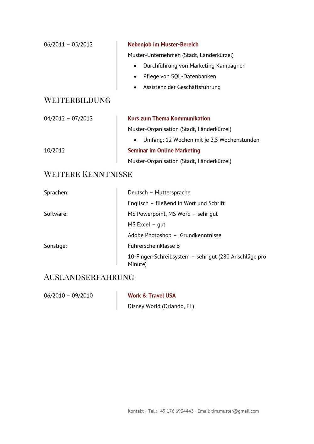 Lebenslauf Muster Vorlage Manager 2 Lebenslauf Vorlagen Lebenslauf Lebenslauf Muster