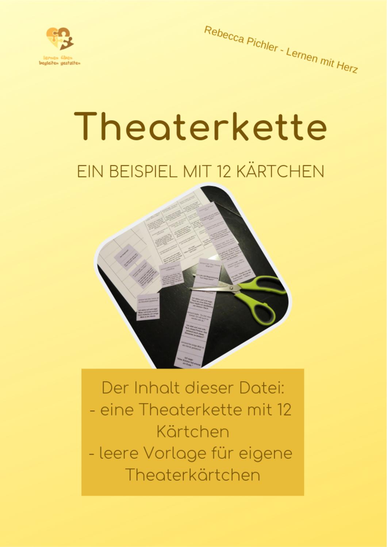 Theaterkette 1 Beispiel Mit 12 Kartchen Vorlage Unterrichtsmaterial Im Fach Deutsch In 2020 Genaues Lesen Vorlagen Karte Vorlagen