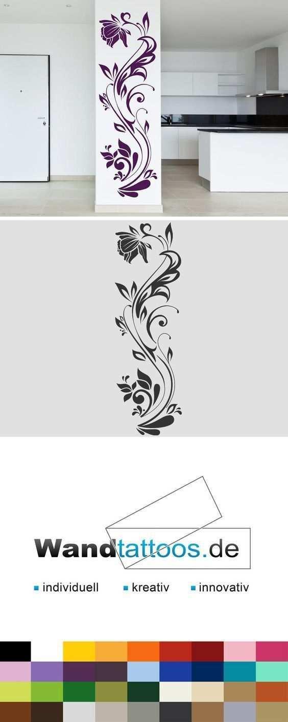 Wandtattoos Ideen Haus Diydiy Info Malerei Wandgestaltungen Wandbilder Blumenranken