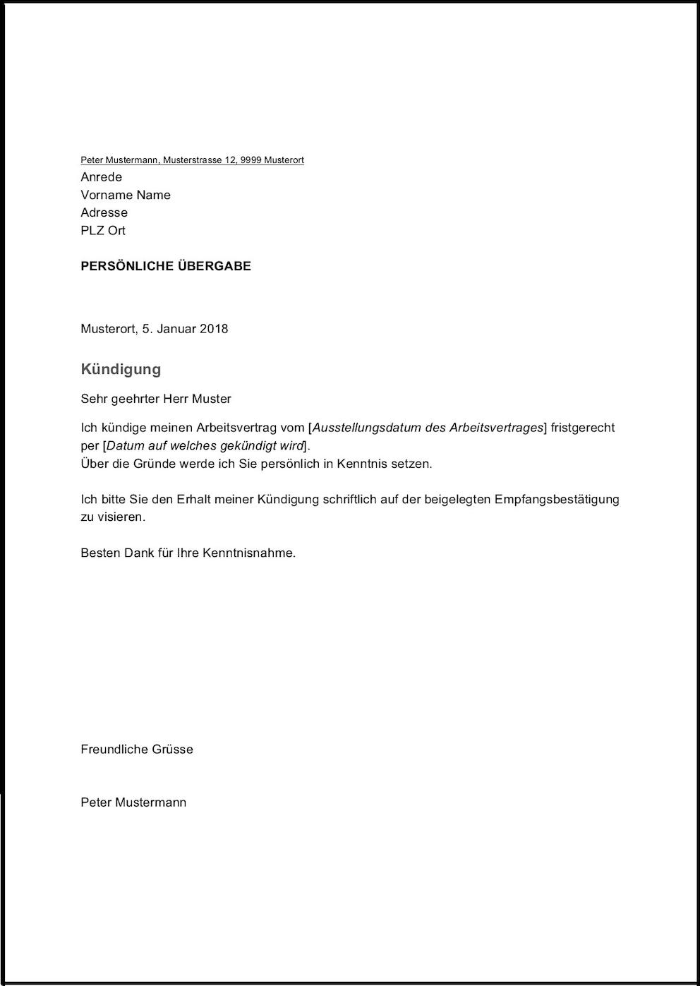 Kundigungsschreiben Vorlage Vorlagen Word Kundigung Schreiben Lebenslauf Vorlagen Word