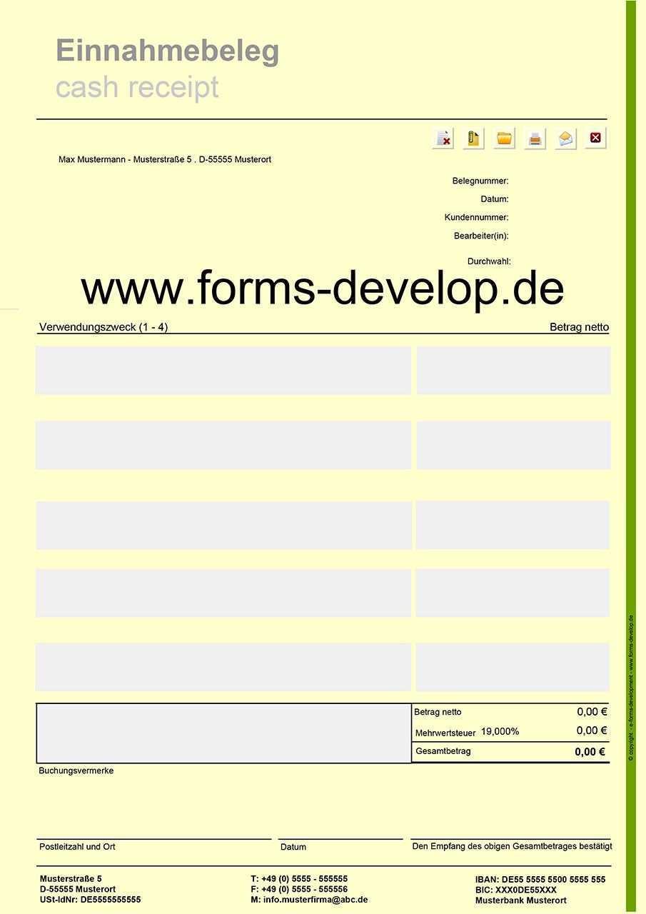 Pdf Formular Einnahmebeleg Einfache Schnelle Und Sichere Erstellung Von Einnahmebelege Mit Automatischer Berechnung Interaktives Pdf Unterschrift Interaktiv