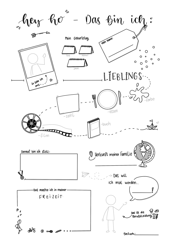Steckbrief Vorlage Hey Ho Das Bin Ich Neue Lehrer Kennenlernspiele Schule Klassenprojekte