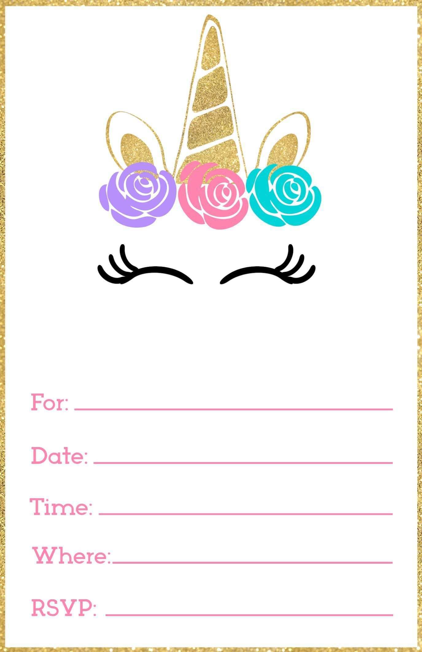 Free Printable Unicorn Invitations Template Paper Trail Design In 2020 Einladungsvorlage Einhorn Einladungen Einladungen Vorlagen