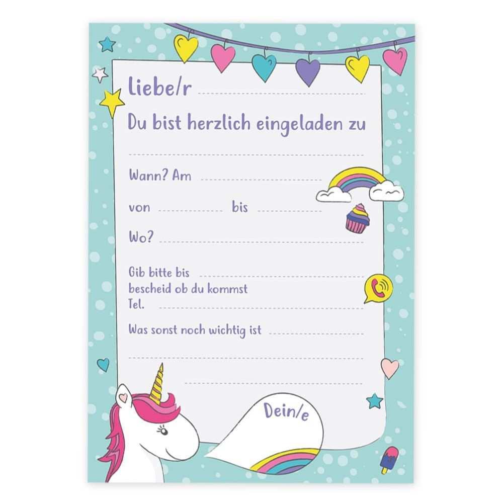 6 Einladungskarten Kindergeburtstag Einhorn Party Einladun Einladungskarten Kindergeburtstag Geburtstagseinladungen Kindergeburtstag Einladung Kindergeburtstag