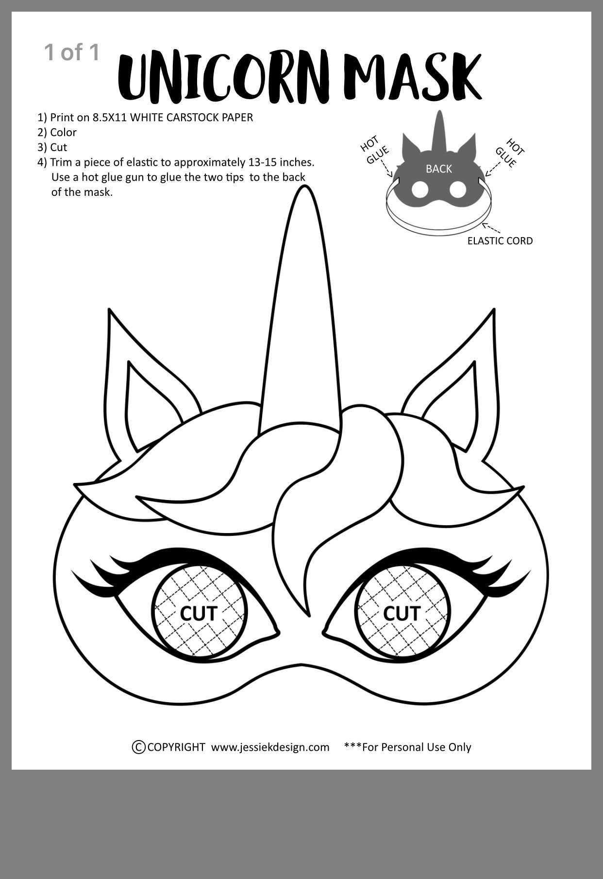 Einhorn Basteln Vorlage In 2020 Einhorn Basteln Masken Basteln Basteln