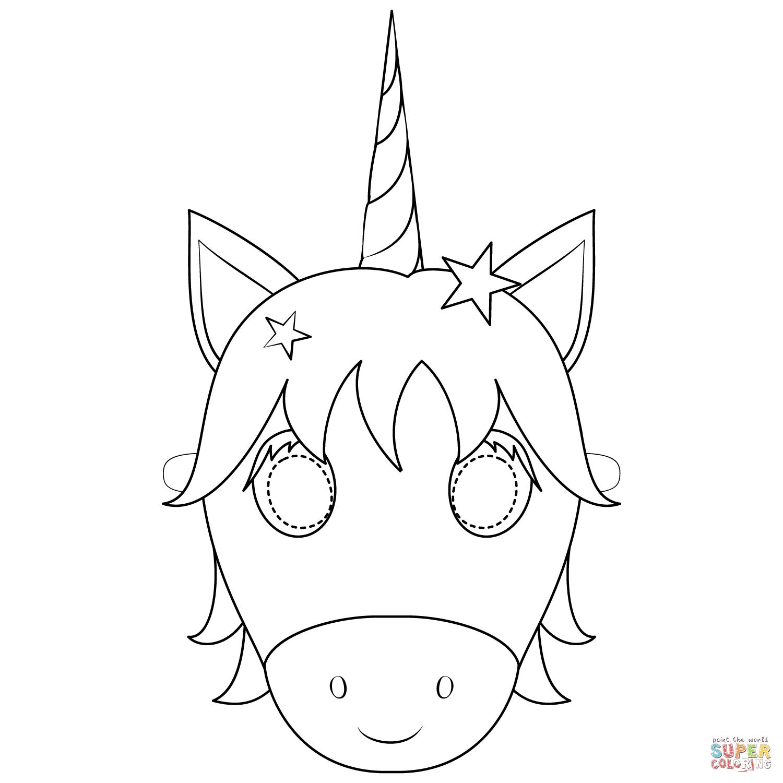 Ausmalbild Unicorn Mask Ausmalbilder Kostenlos Zum Ausdrucken Ausmalbilder Ausmalen Ausmalbild