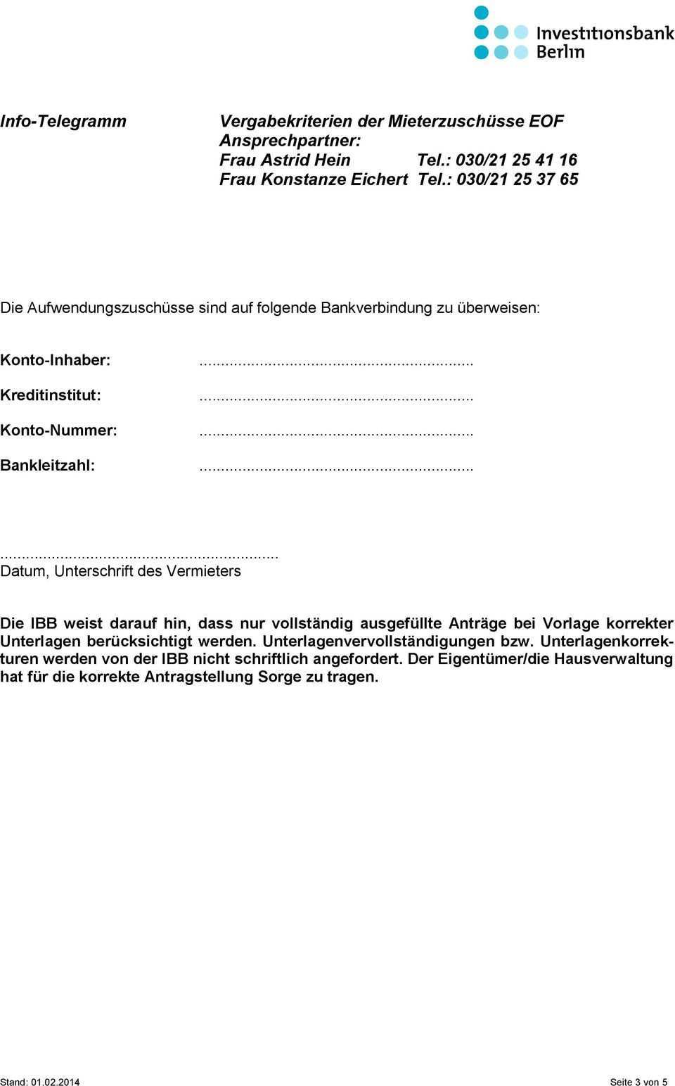 Vergabekriterien Der Mieterzuschusse Eof Ansprechpartner Frau Astrid Hein Tel 030 Frau Konstanze Eichert Tel Pdf Kostenfreier Download