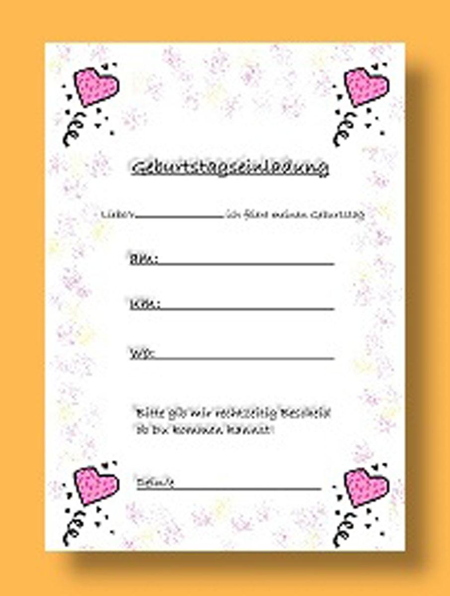 B U00fcgelperlen Vorlagen Geburtstag Design Einladungskarten Vordrucke Kindergeburtstag