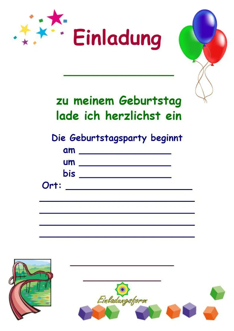 Pin Di Einladung Geburtstag