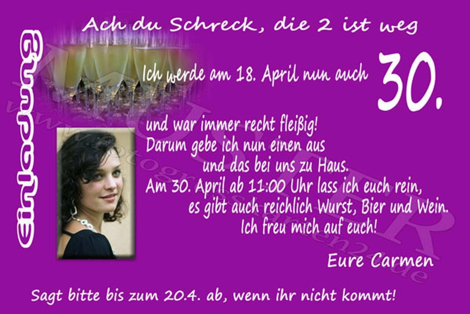 Einladungstext 30 Geburtstag Reinfeiern Einladung Geburtstag Einladung 30 Geburtstag Einladungskarten Geburtstag