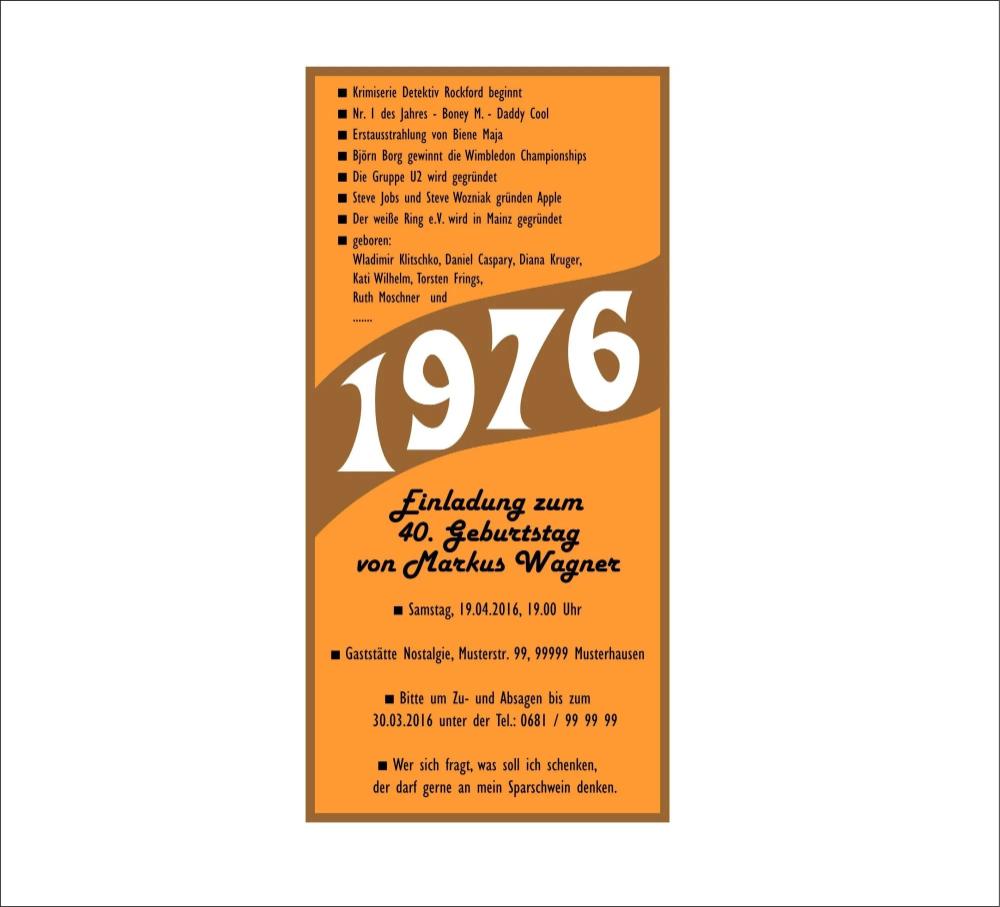 Elegant Einladung 40 Geburtstag Vorlagen Kostenlos Einladungenkarten Design
