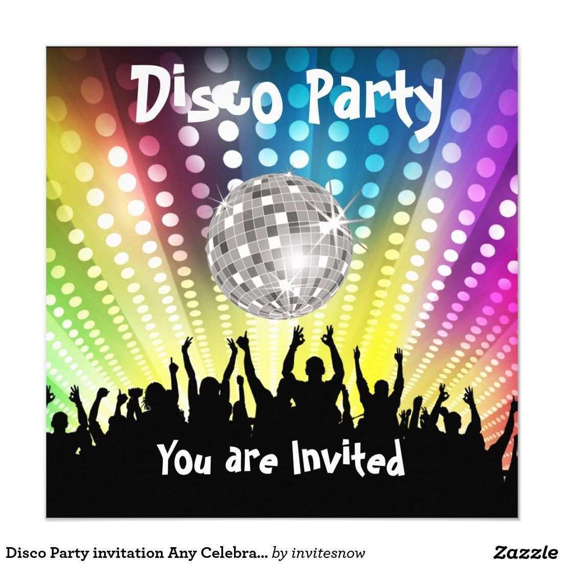 Disco Party Einladung Irgendeine Feier Zazzle De Party Einladung Disco Party Einladungen