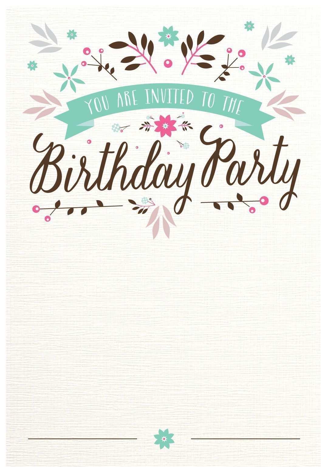 Einladungen Geburtstag Vorlagen Word Kostenlos In 2020 Geburtstag Einladung Vorlage Einladung Geburtstag Einladungen Vorlagen
