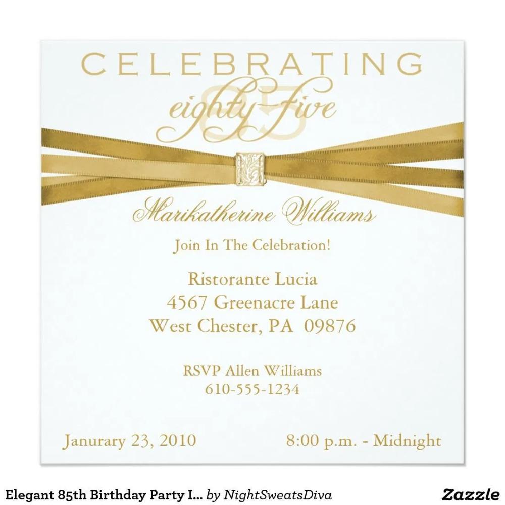 Einladung Geburtstag Einladung Zum 85 Geburtstag Karteneinladung In 2020 Einladungen Zum 90 Geburtstag Einladung 80 Geburtstag 60 Geburtstag Party Ideen