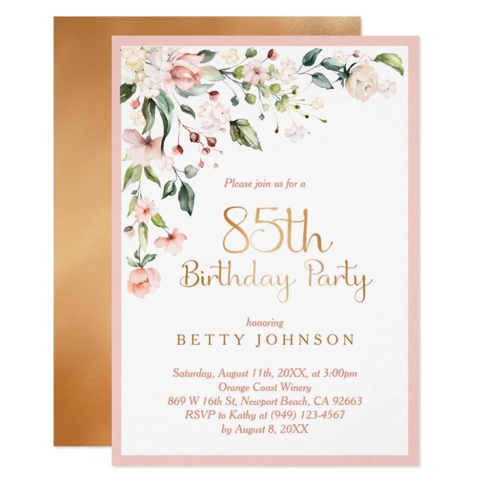 Einladung Geburtstag Einladung Zum 85 Geburtstag Karteneinladung In 2020 Einladung Geburtstag Einladungen Zum 90 Geburtstag Einladung 80 Geburtstag