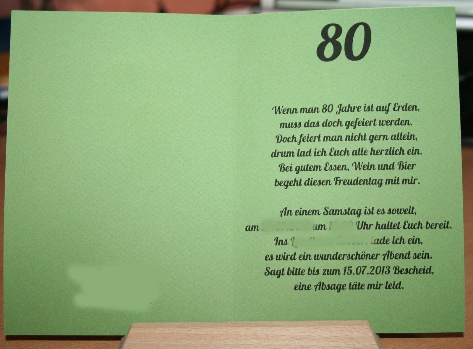 Einladung 85 Geburtstag Vorlage Kostenlos