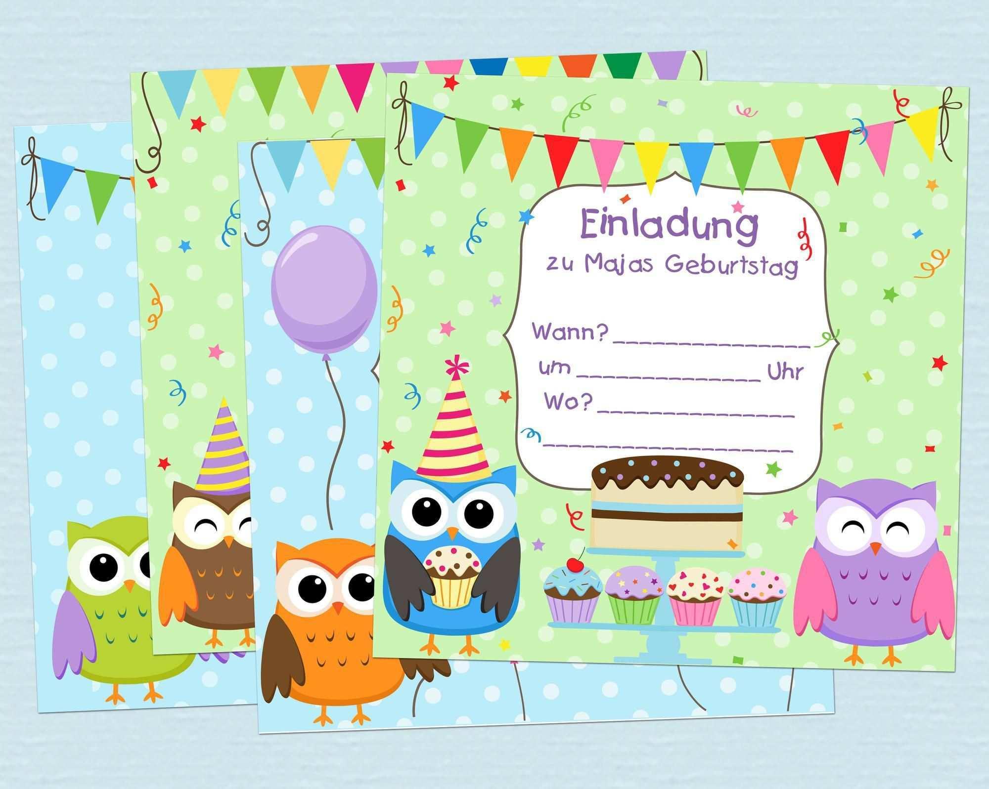 Pin Auf Einladungskarten Geburtstag