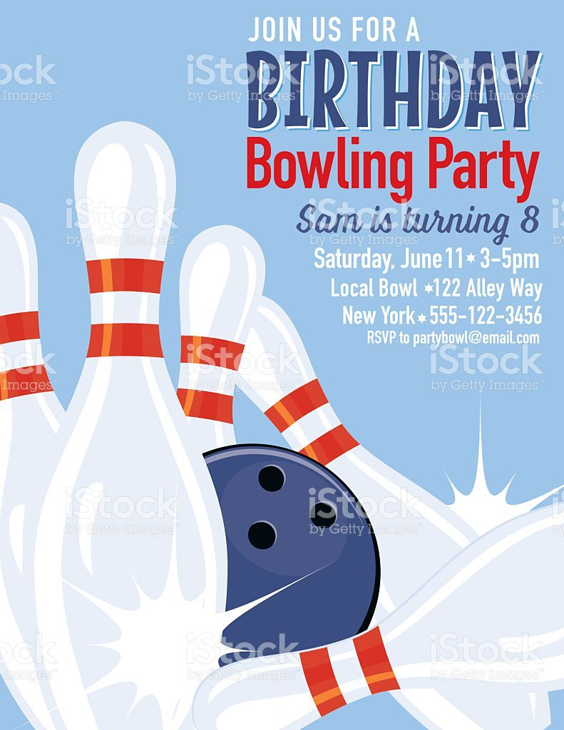 Einladung Kegeln Vorlage In 2020 Bowling Party Invitations Party Invite Template Bowling Birthday Party Invitations