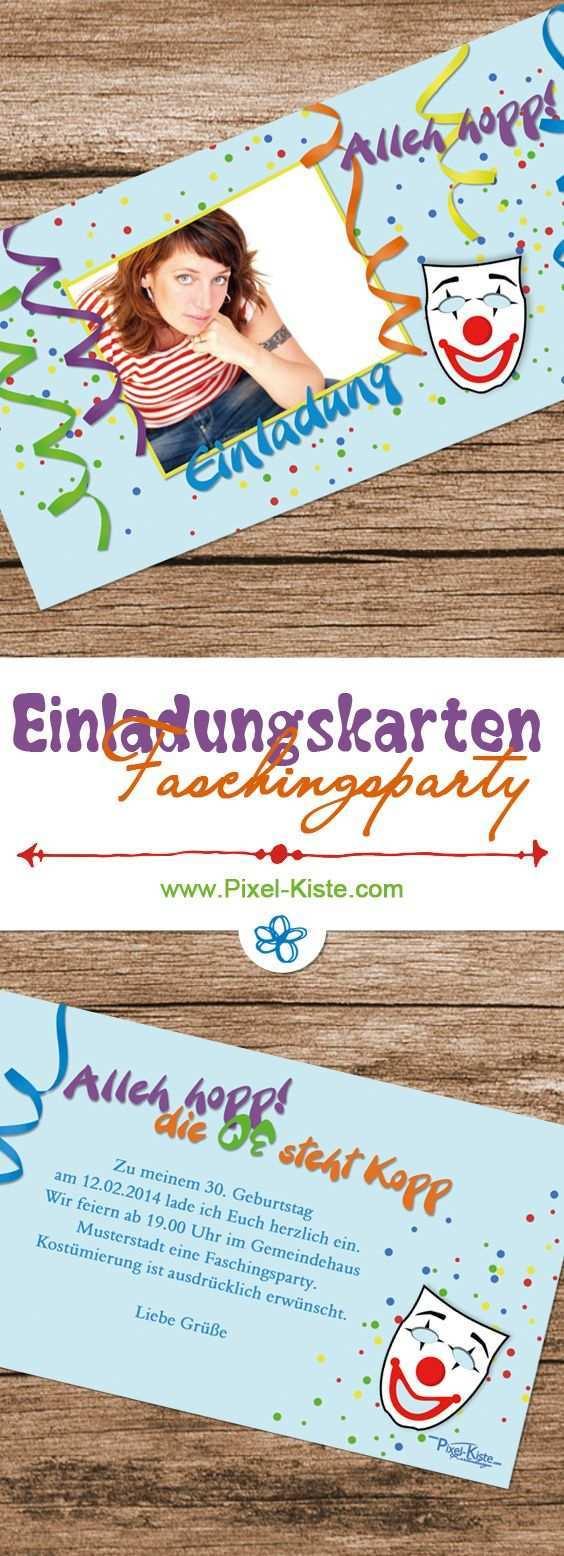 Einladungskarten Karneval Fastnacht Fasching Faschingsparty Geburtstag Einladung 40 Geburtstag Einladung Geburtstag
