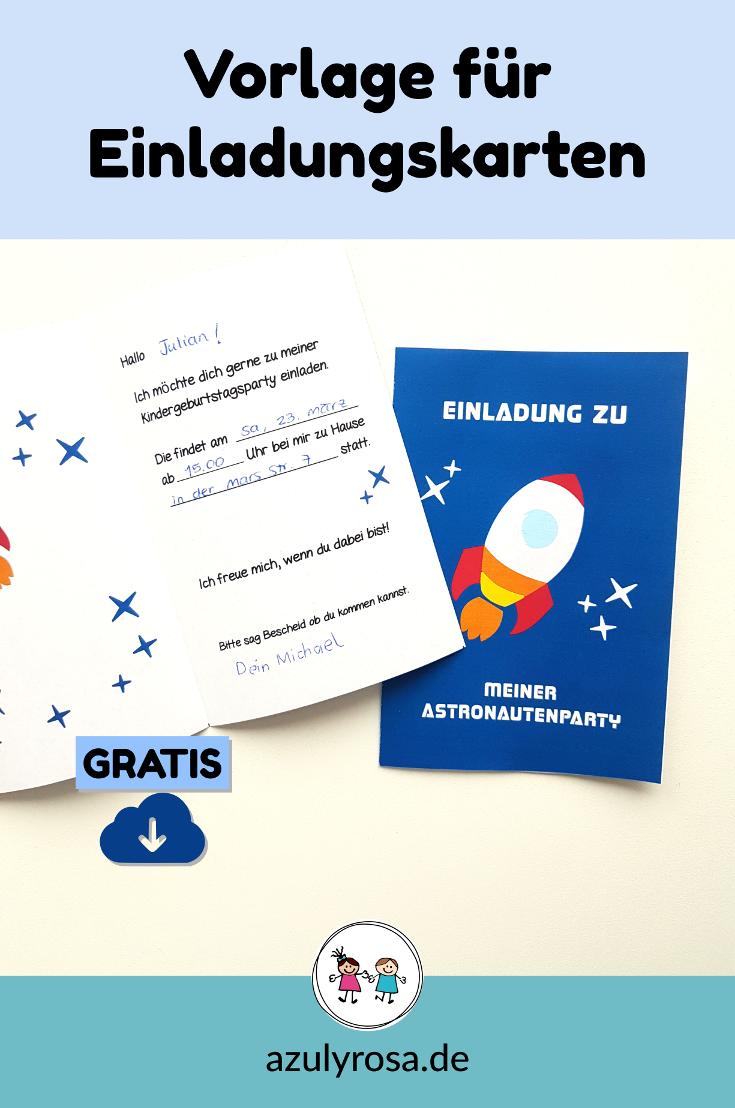 Vorlagen Fur Einladungskarten Astronauten Party Azul Rosa Einladungskarten Kindergeburtstag Vorlage Einladung Kindergeburtstag Einladungskarten