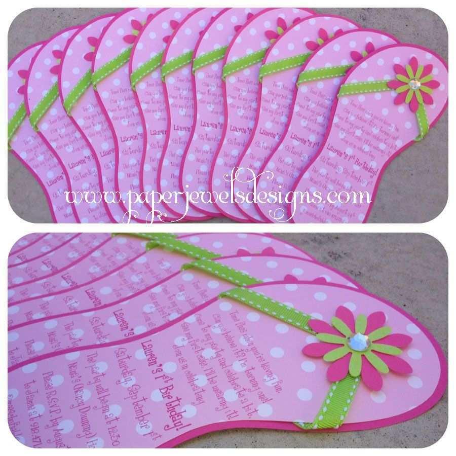 Flip Flop Invitations Www Paperjewelsdesigns Com Geburtstagseinladungen Kinder Einladungskarten Geburtstag Kind Einladung Kindergeburtstag