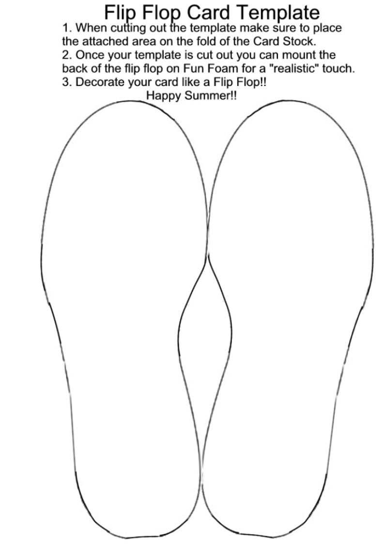 Excellent Template Collection Including Flip Flops For A Great Summer Card Flip Flop Cards Card Patterns Card Templates