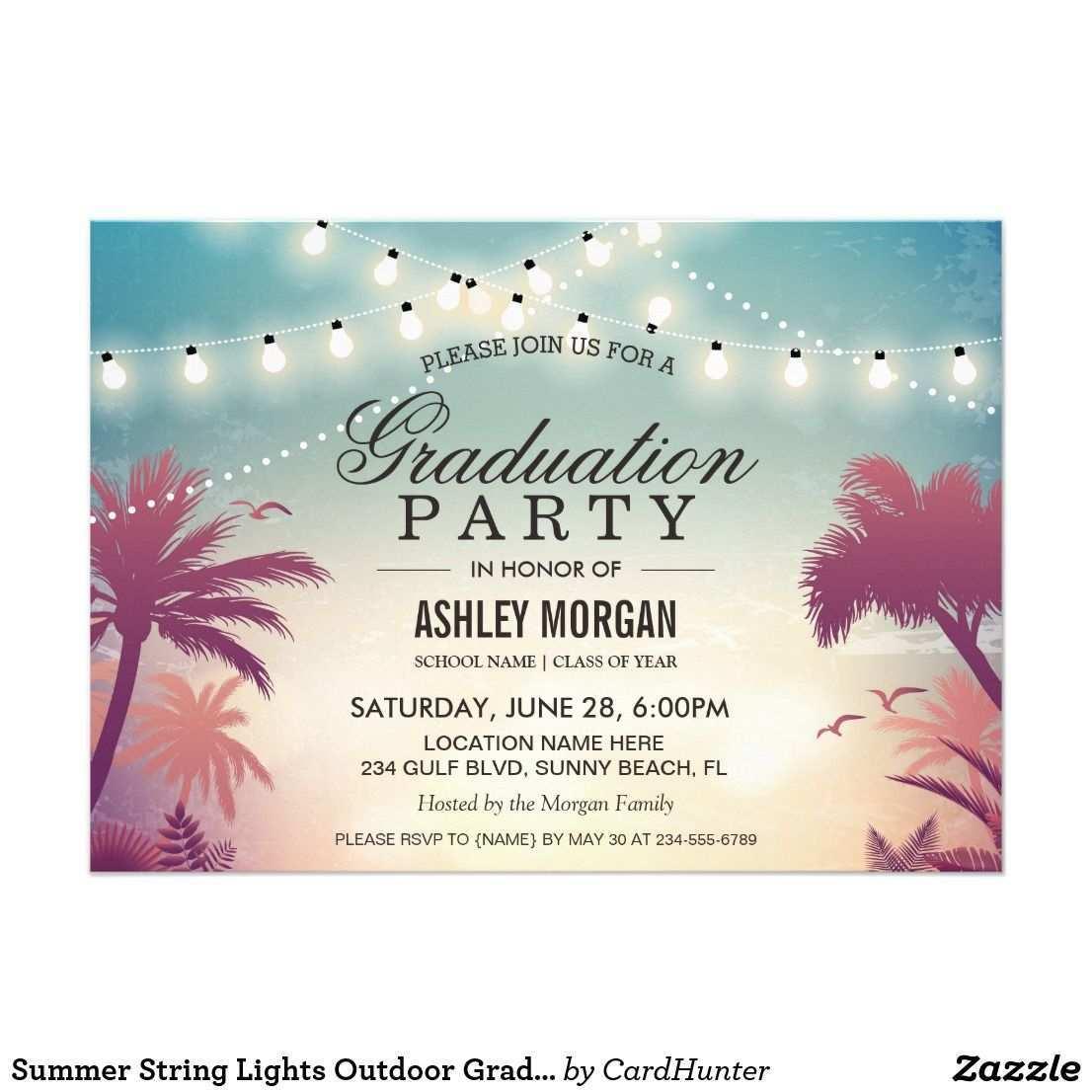 Sommersaitenlichter Aussenstudium Einladung Zazzle De Brautparty Einladung Brautparty Einladungen