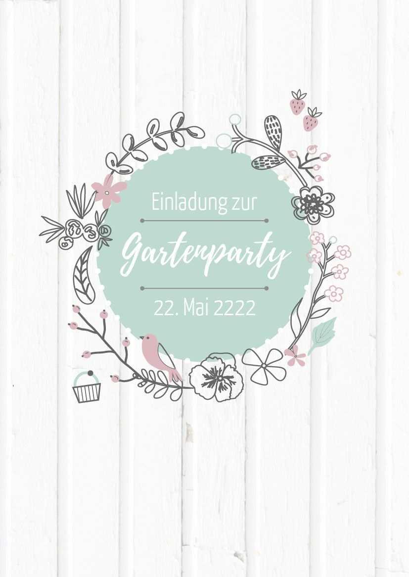 Einladung Zur Gartenparty Oder Zum Gartenfest Schone Einladung Auch Zum Brunchen Einladungen Gartenparty Einladungen Gartenparty