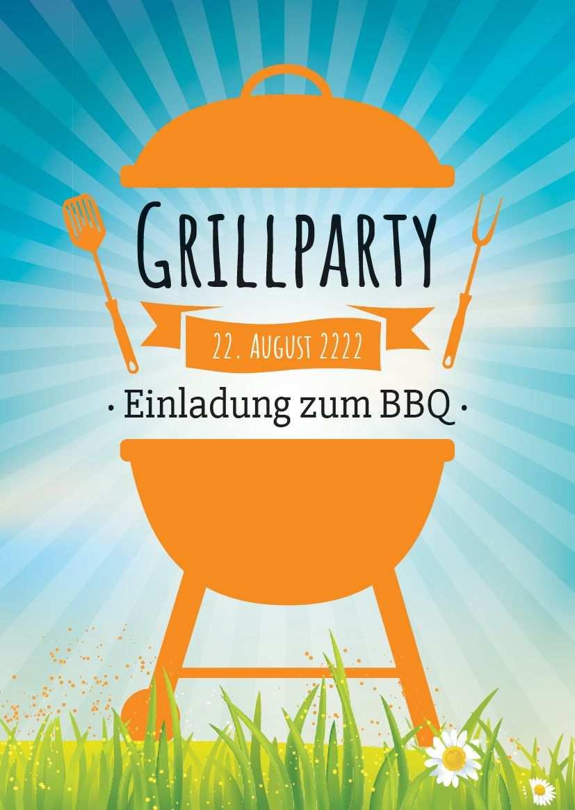 Einladung Zum Grillen Bbq Im Garten Einladungen Einladungsvorlage Einladungskarten