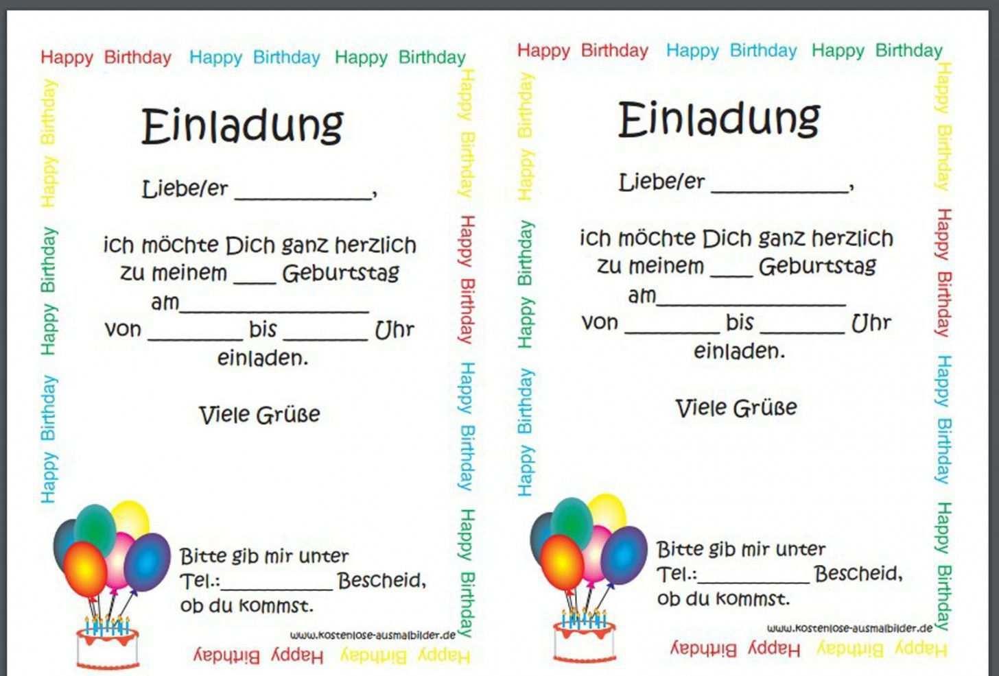 Einladungskarten Geburtstag Einladungskarten Gebur Vorlage Einladung Kindergeburtstag Einladungskarten Kindergeburtstag Text Einladungen Geburtstag Kostenlos