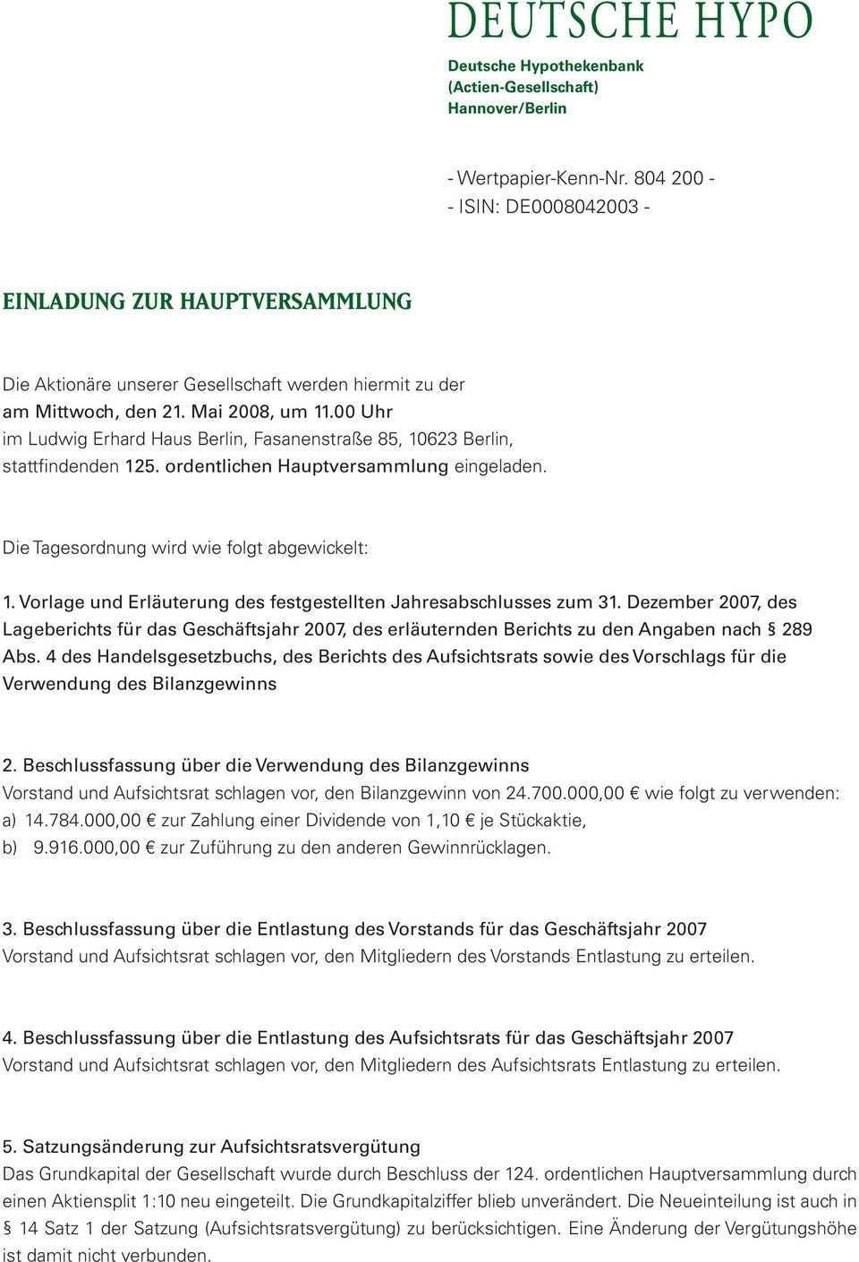 Einladung Zur Hauptversammlung Pdf Free Download