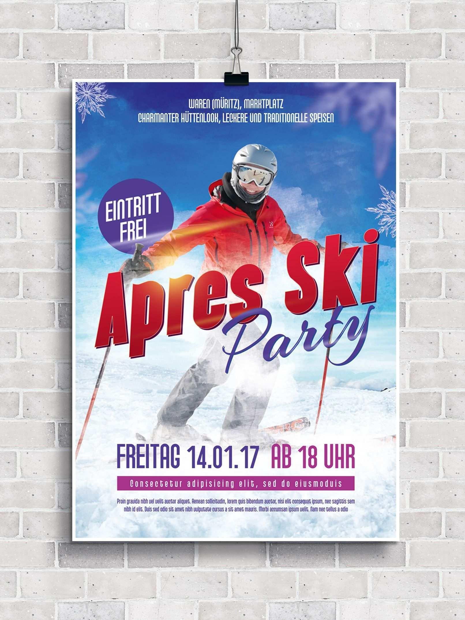 Flyer Vorlagen Fur Apres Ski Party Und Huttengaudi Flyer Vorlage Flyer Apres Ski Party