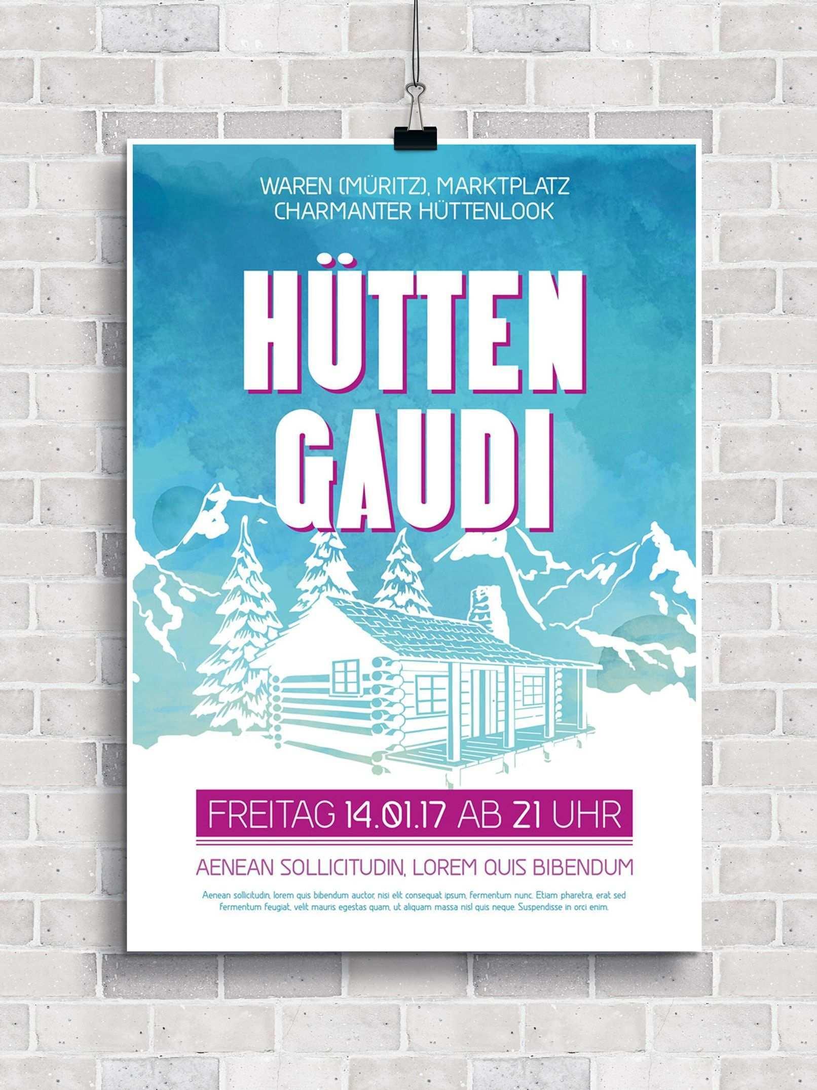 Flyer Vorlagen Fur Apres Ski Party Und Huttengaudi Flyer Vorlage Flyer Gaudi