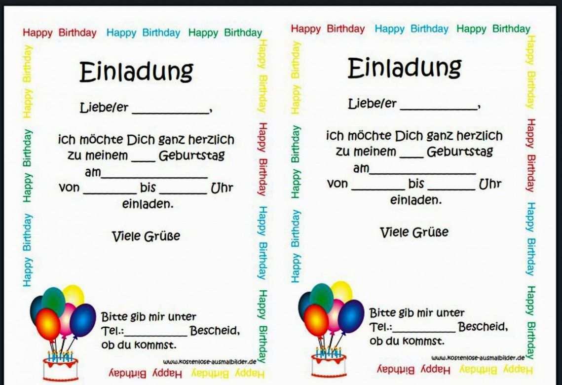 Vorlage Einladung Zum Geburtstag Vorzuglich Einl Einladungskarten Kindergeburtstag Text Vorlage Einladung Kindergeburtstag Einladung Kindergeburtstag Kostenlos