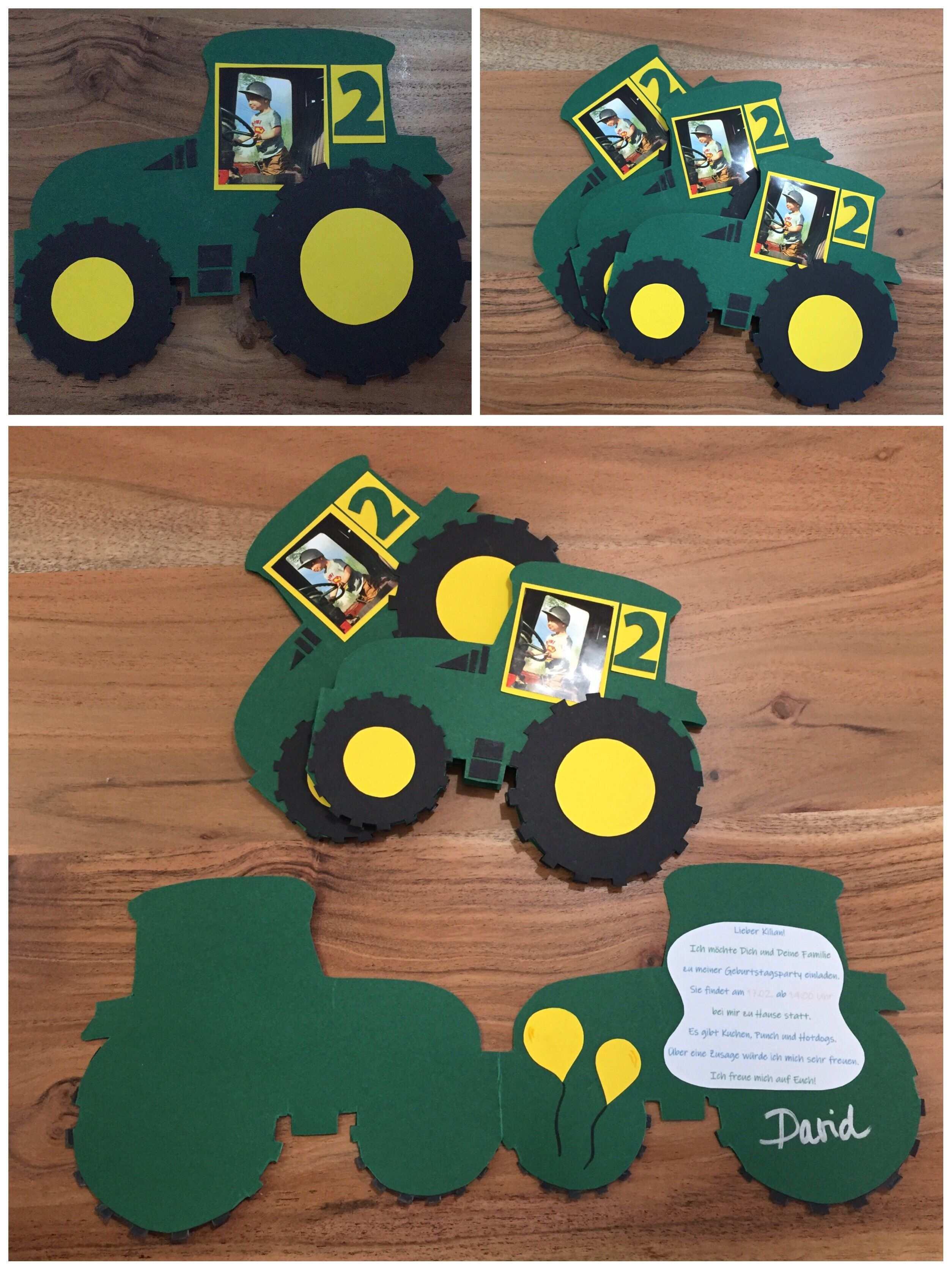 Traktor Einladungskarte Fur Kindergeburtstag Einladungskarten Kindergeburtstag Geburtstagseinladungen Kinder Einladung Kindergeburtstag